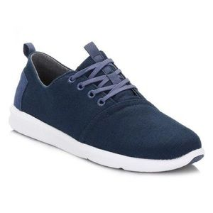 Toms Blue Canvas Multi Shade Lace Up Sneakers